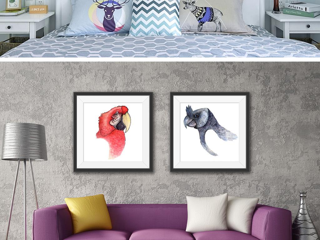 我图网提供精品流行水彩画现代简约装饰画鹦鹉素材下载,作品模板源文件可以编辑替换,设计作品简介: 水彩画现代简约装饰画鹦鹉 矢量图, RGB格式高清大图,使用软件为 Illustrator CS6(.ai)