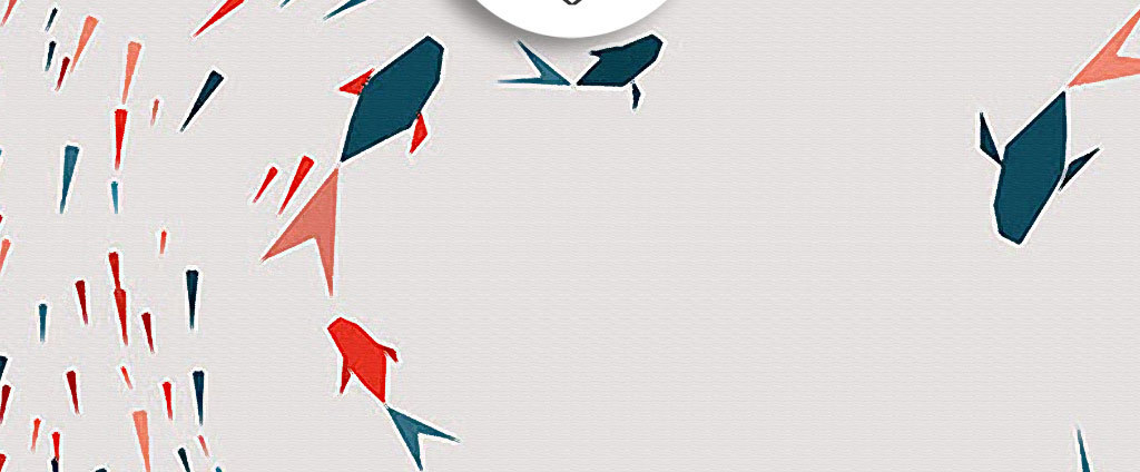 装饰画 北欧装饰画 动物装饰画 > 手绘彩色水墨千鱼无框画  素材图片