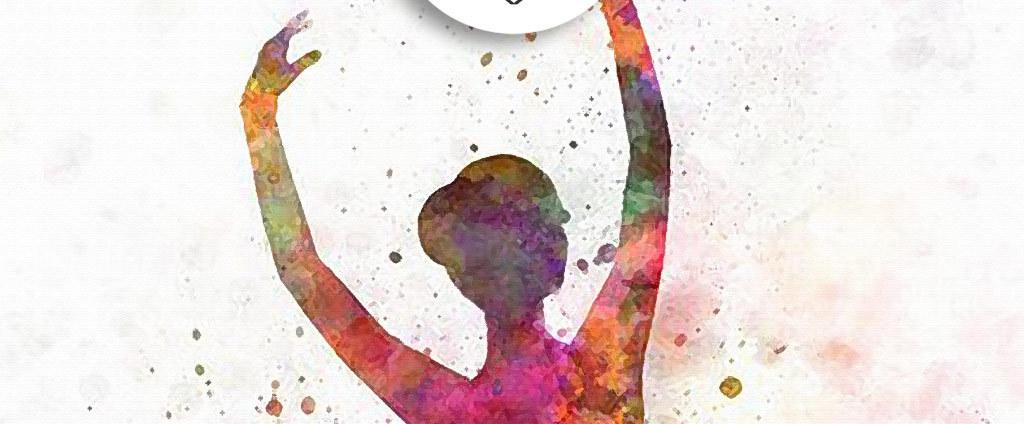 手绘国外美女人物舞蹈彩色水墨装饰画