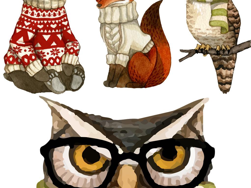 北欧现代简约矢量动物装饰画