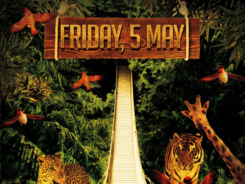 生态丛林动物乐园自然声音环保公益海报设计