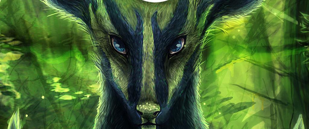 森林麋鹿唯美无框画
