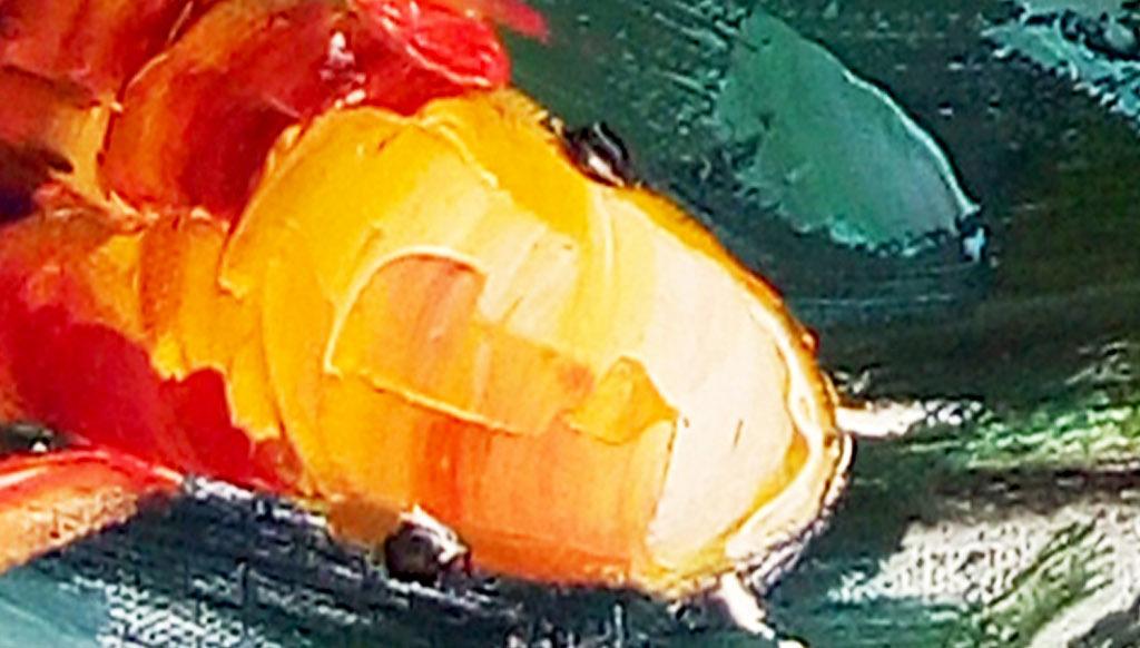抽象油画九鱼图客厅装饰画
