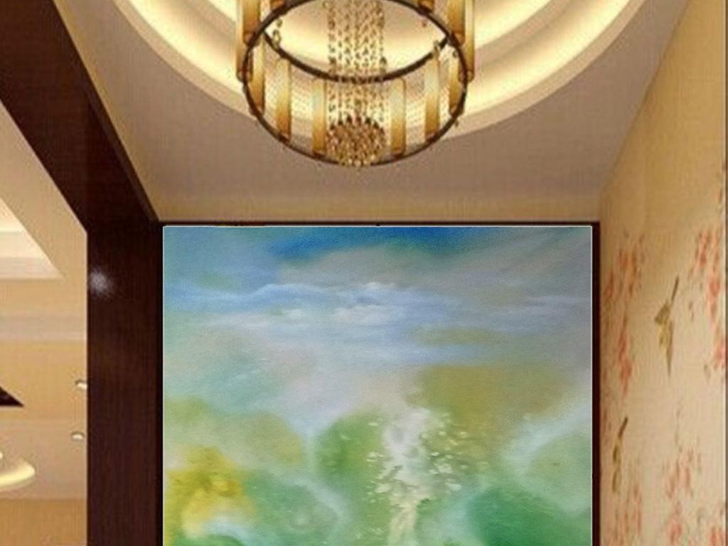 背景墙|装饰画 玄关 山水花鸟玄关图 > 财源滚滚风水聚财玄关抽象装饰