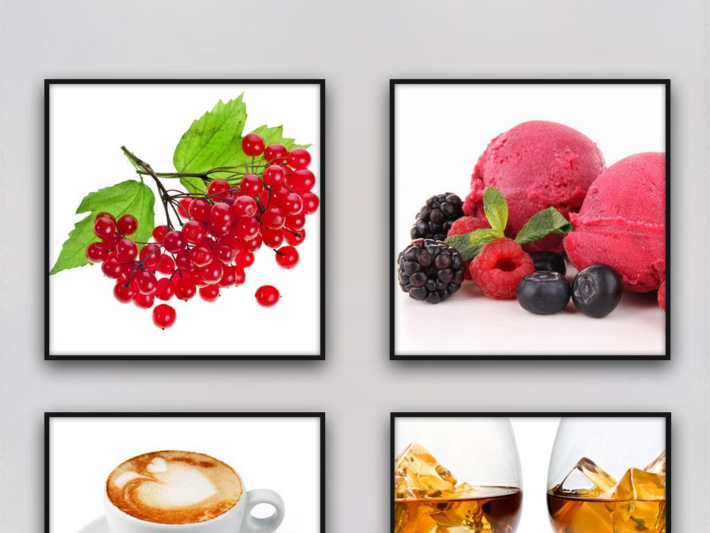 水果冰激凌唯美欧美时尚现代客厅室内装饰画图片