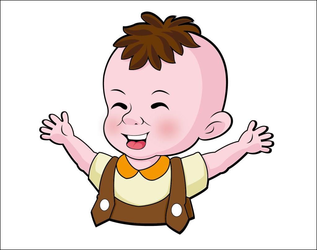 免扣元素 人物形象 动漫人物 > 小宝宝矢量卡通设计  版权图片 素材图