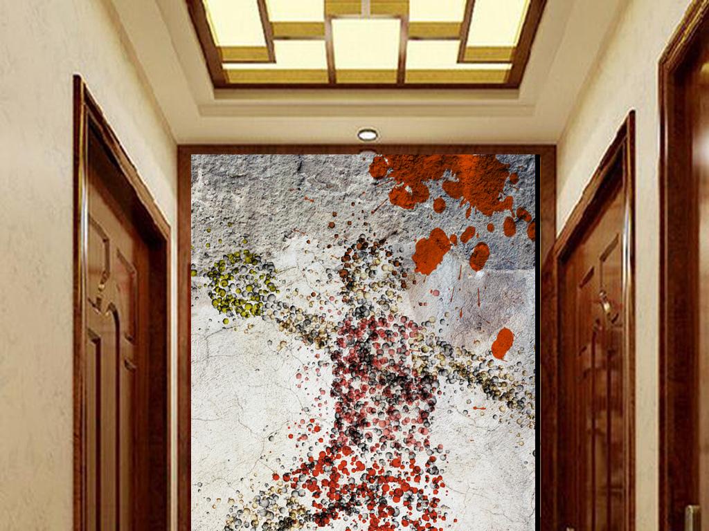 立体                                  木板墙壁