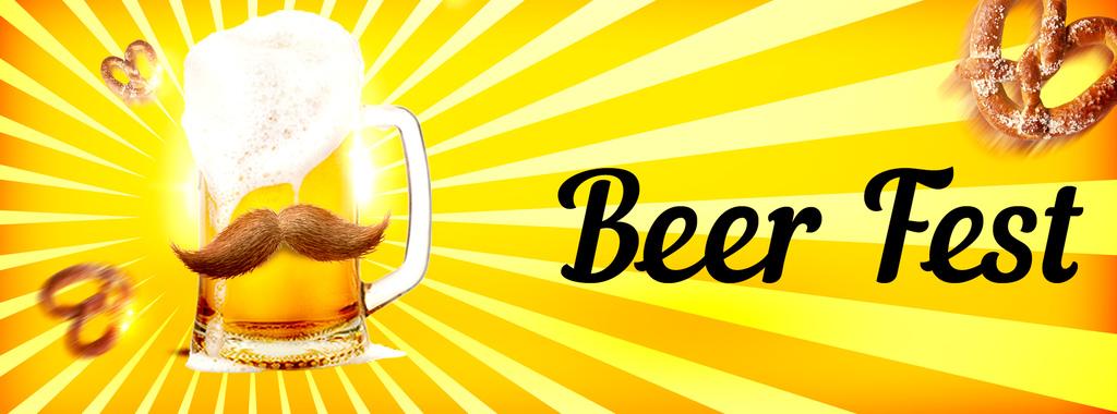 时尚华丽酒吧啤酒节生啤扎啤鲜啤酒促销海报