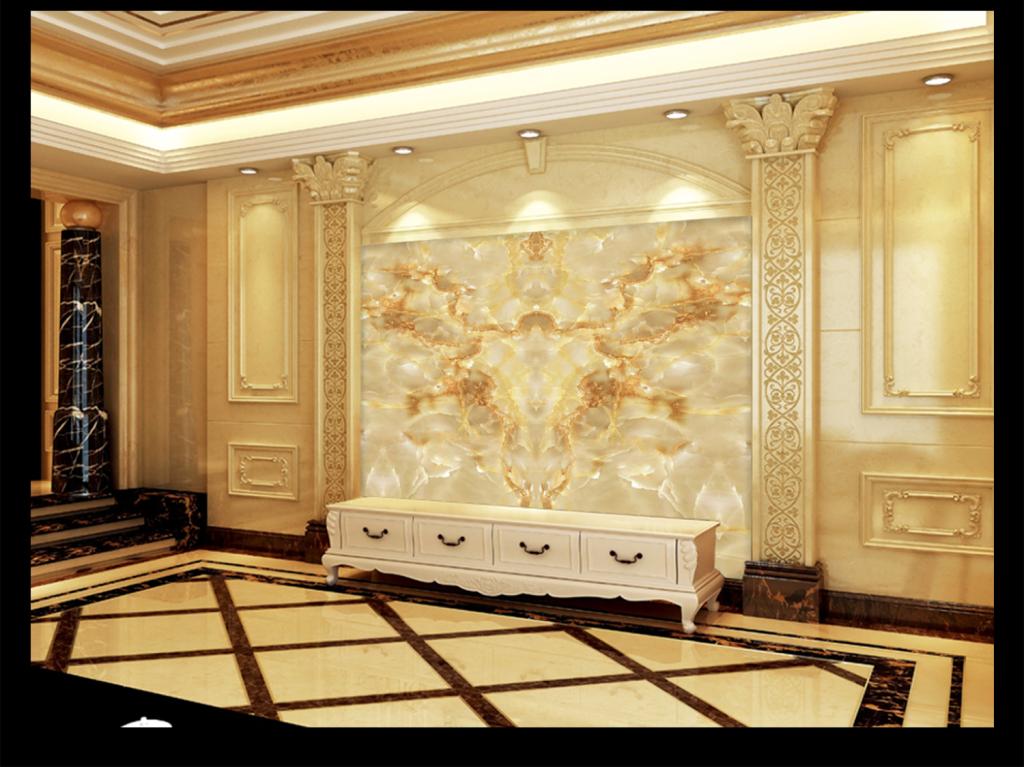 欧式千手观音电视背景墙图片玻璃电视背景墙图片客厅电视背景墙3d电视图片