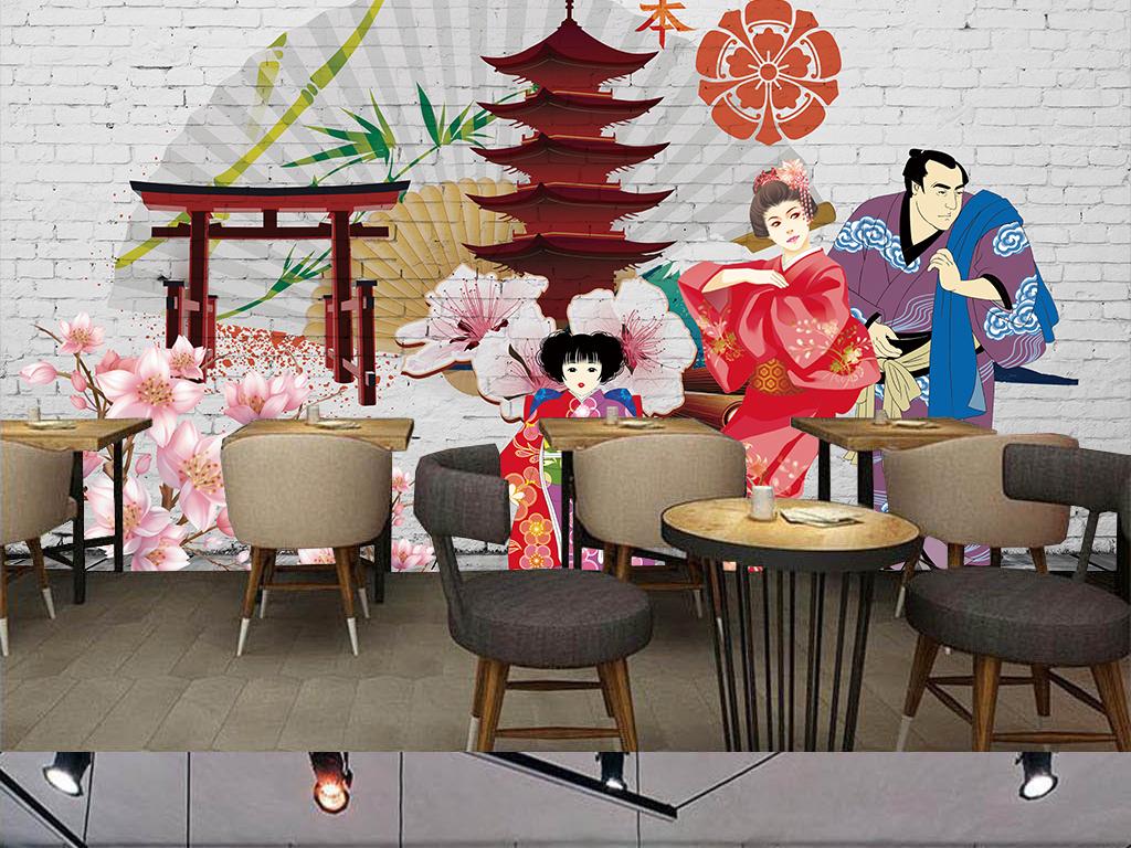 日式风格手绘背景墙(图片编号:15748377)_酒店|餐饮业