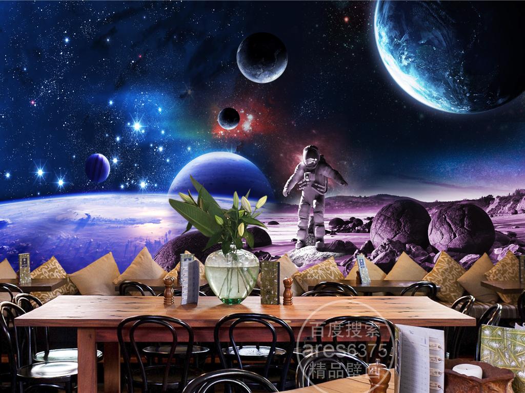 宇宙星空科幻主题太空宇航员火星壁画壁纸