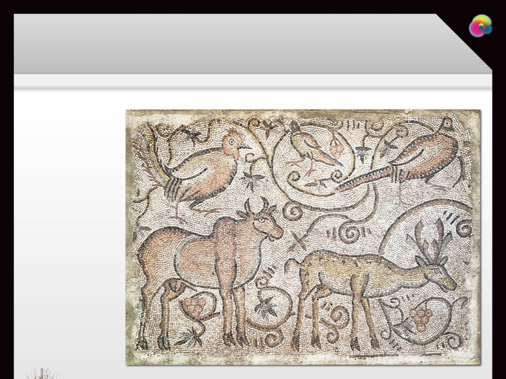 高清立体复古动物麋鹿马鹿壁画装饰画