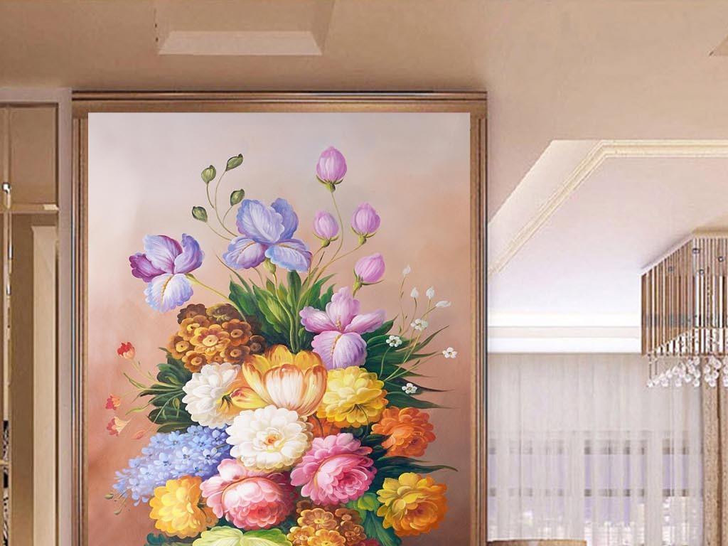 手绘花卉艺术欧洲油画人物油画油画风景手绘油画高清油画牡丹花油画