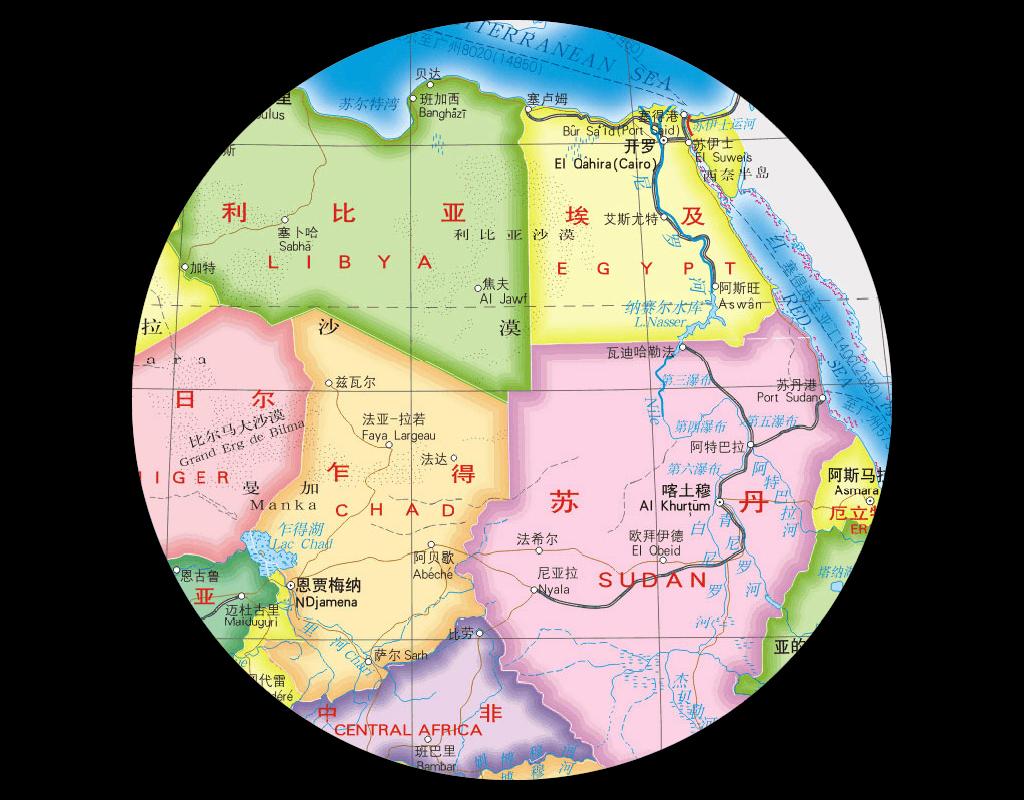 非洲地图高清大图