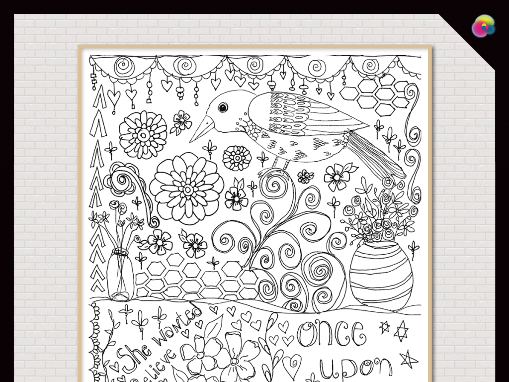 手绘花鸟画线稿线描画素描线条现代简约树叶北欧简约简约手绘北欧现代