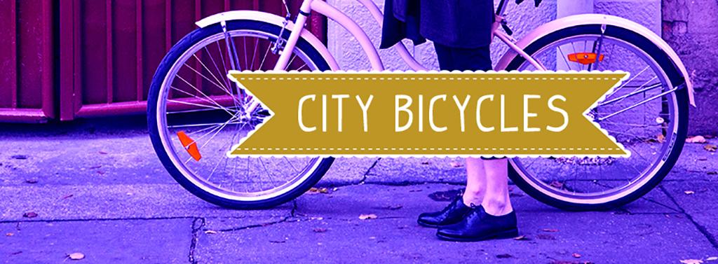 怀旧复古手绘文艺城市自行车行宣传海报