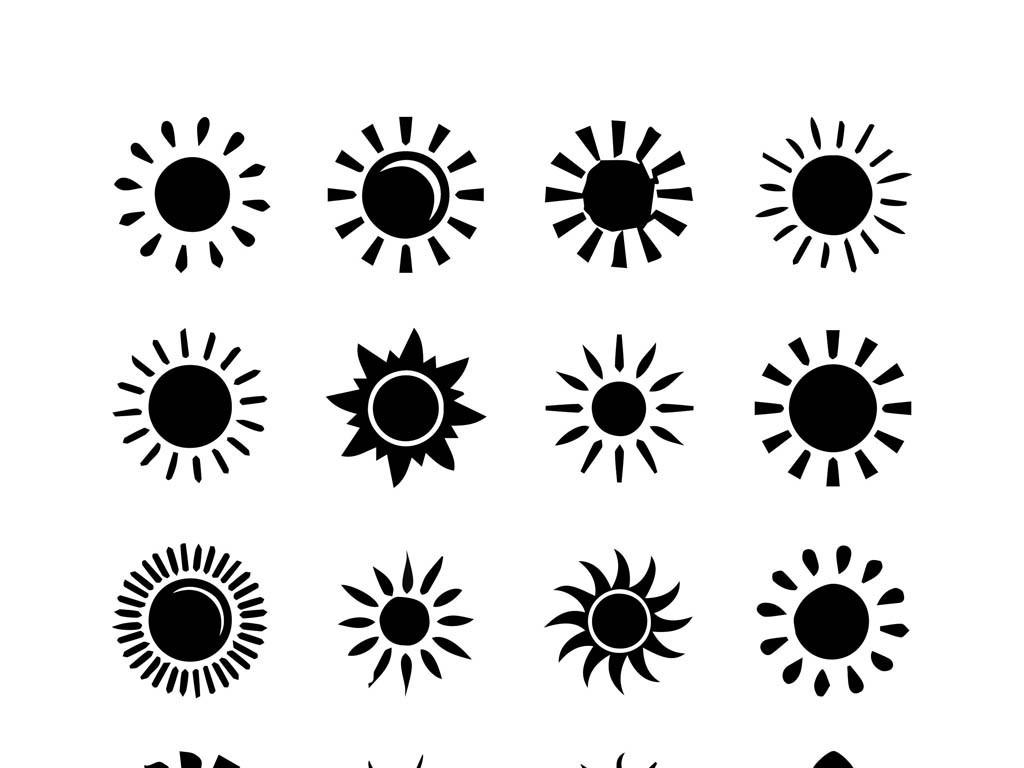 太阳手绘图太阳阳光卡通太阳卡通阳光cdr太阳小太阳幼儿园太阳幼儿园
