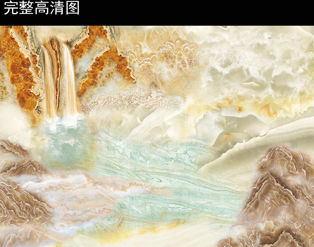微晶石-气势如虹大理石石纹山水背景墙图片