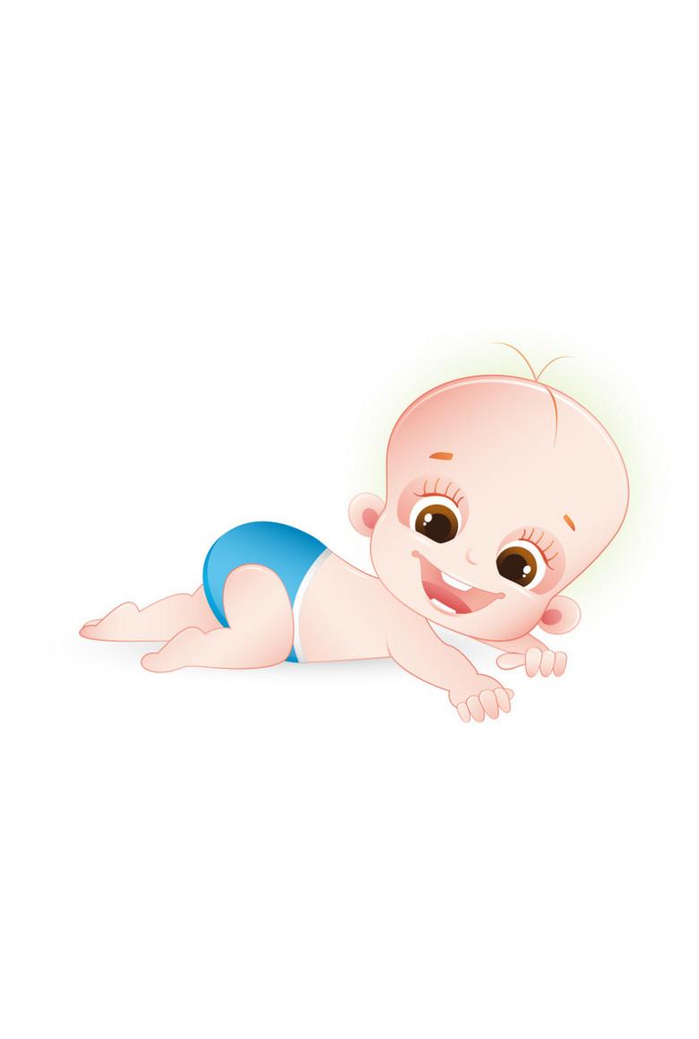 卡通萌娃婴儿趴着图片