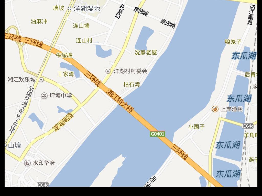 2016高清长沙市地图电子地图
