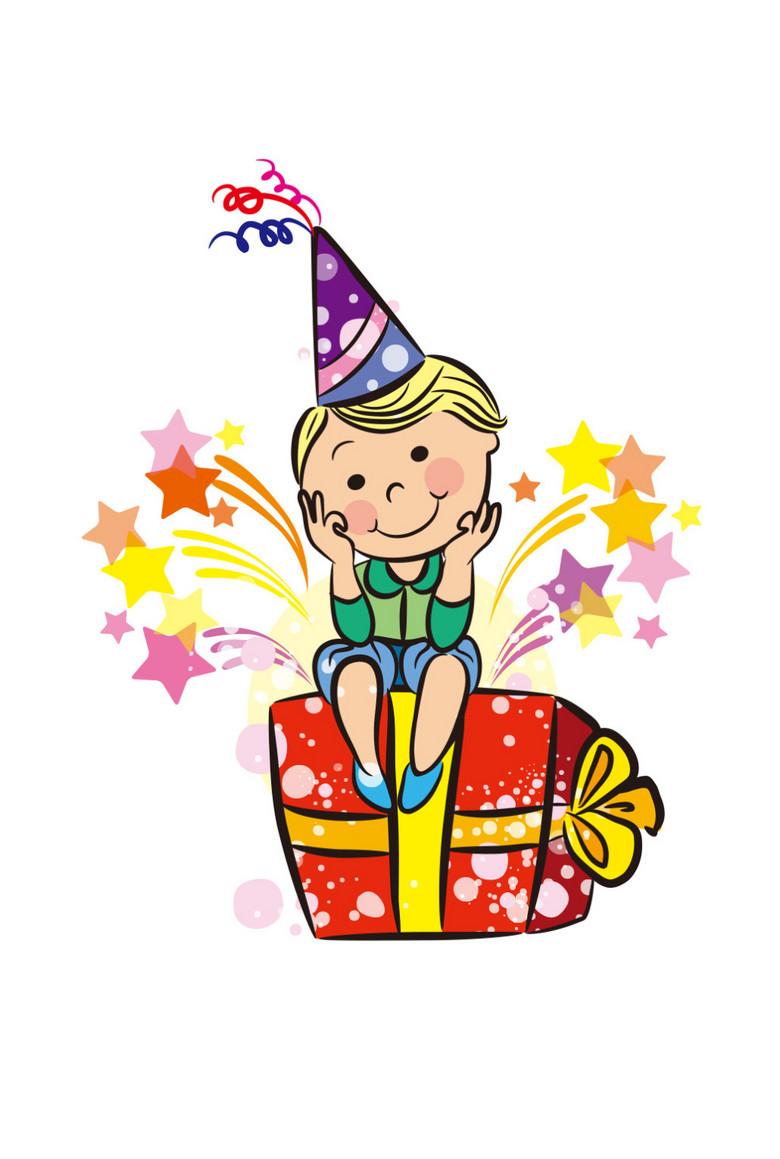 免抠元素 人物形象 儿童 > 卡通手绘可爱小孩过生日  版权图片 设计师