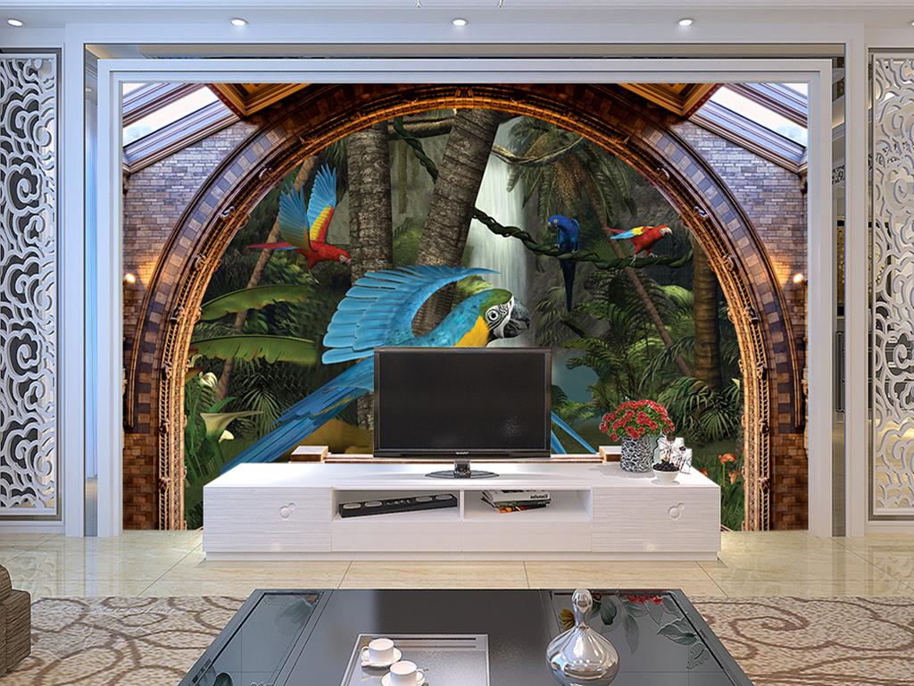 我图网提供精品流行欧式屋檐3D花鸟森林背景墙素材下载,作品模板源文件可以编辑替换,设计作品简介: 欧式屋檐3D花鸟森林背景墙 位图, RGB格式高清大图,使用软件为 Photoshop CS6(.psd) 奇幻森林 花鸟 鹦鹉 欧式建筑欧美复古