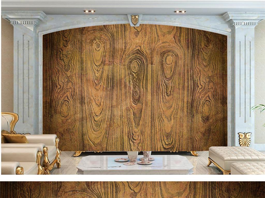 木板纹理电视背景墙