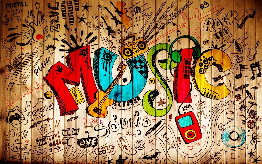 涂鸦英文字母木头背景墙图片