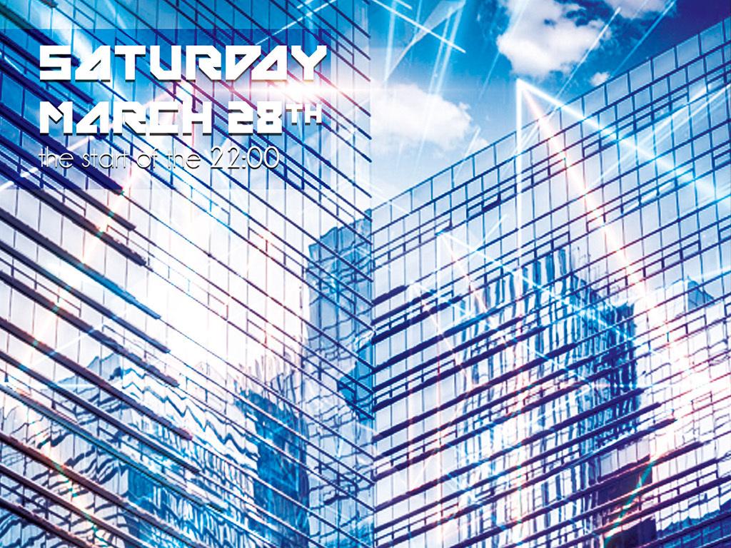 炫酷城市梦想未来科技创新宣传海报模板图片