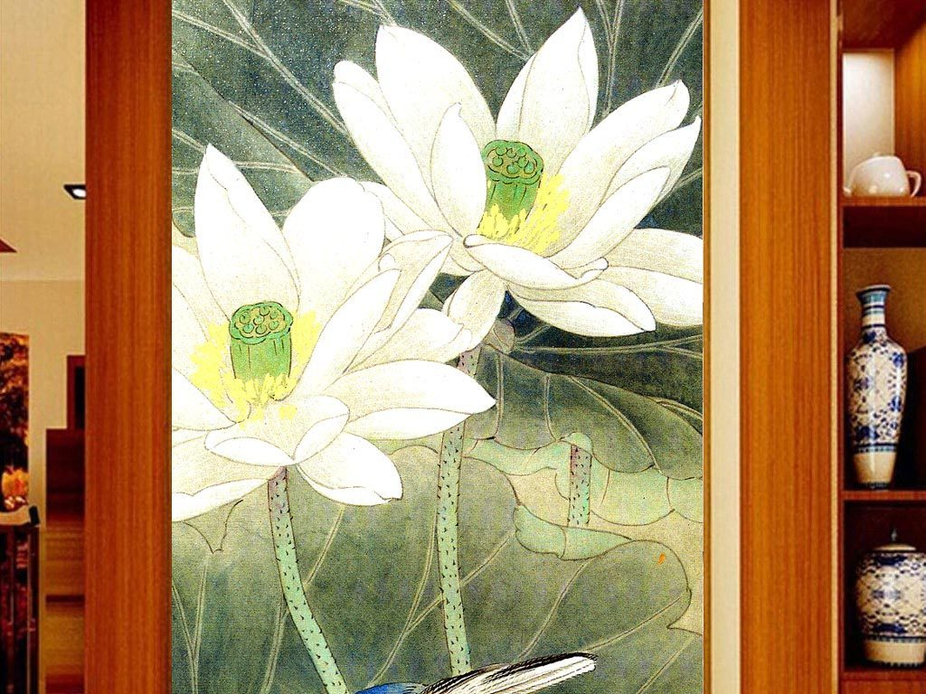 荷花图片荷花手绘手绘墙荷花荷花手绘墙手绘荷花图手绘荷花矢量图手绘