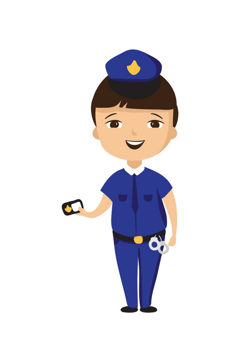 卡通女警察执勤图片下载ai素材 其他