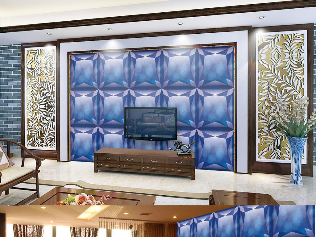 欧式水晶艺术瓷砖马赛克电视沙发背景墙图片设计素材图片