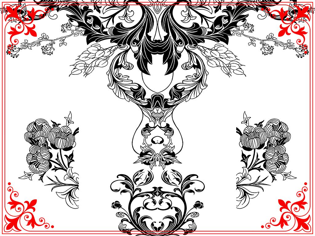 欧蔓朵简约欧式花纹瓷砖背景墙雕刻路径图