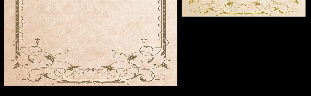 欧式花纹边框古典信纸背景模板设计