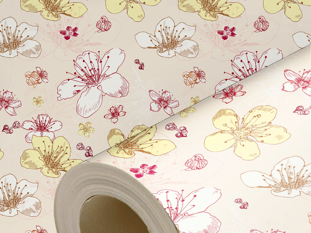 手绘花卉背景墙纸(图片编号:15770732)