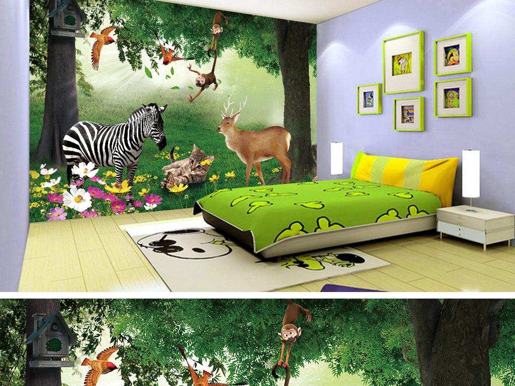 > 3d动物森林