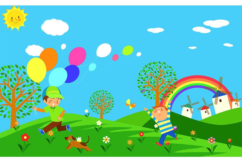 幼儿园儿童房卡通背景墙壁画模板(图片编号:15771187)图片