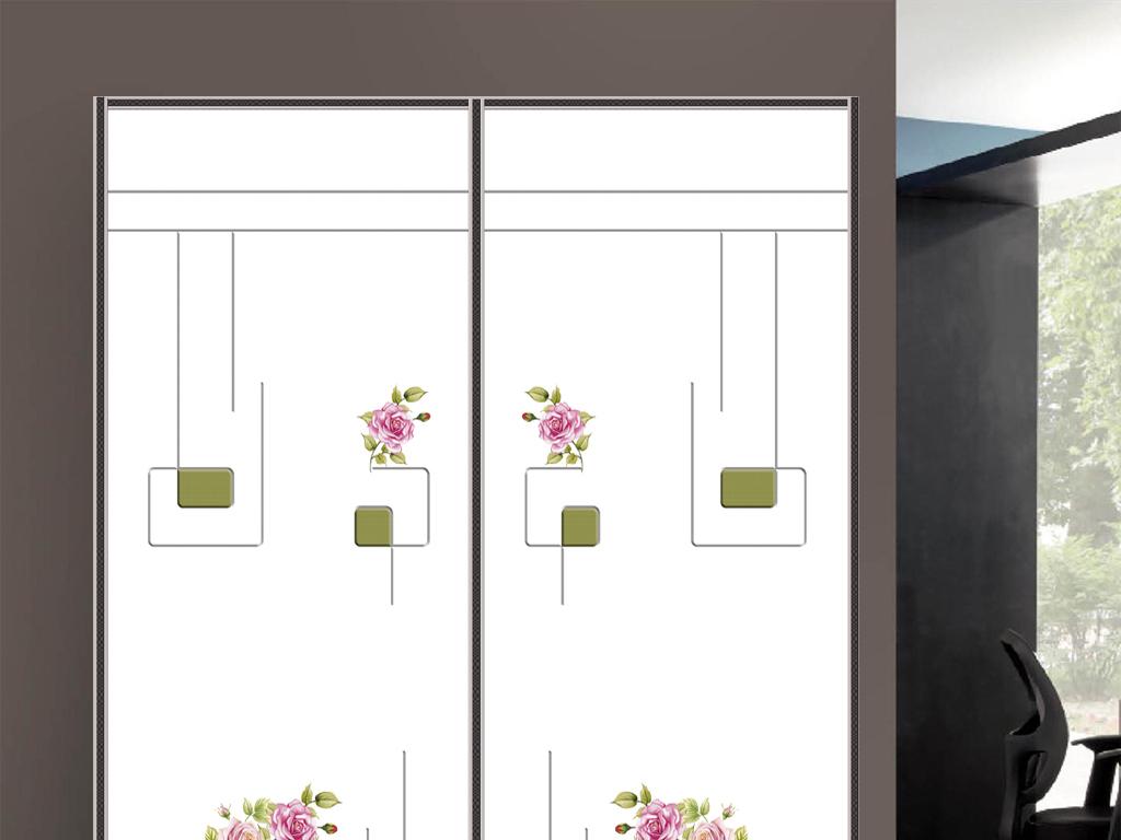 欧式移门门业画册衣柜门图片玫瑰花移门衣柜移门衣柜