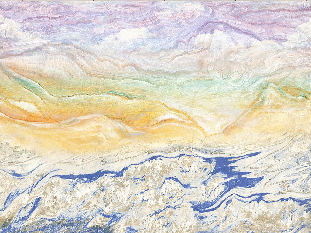 海纳百川山水大理石纹背景墙图片