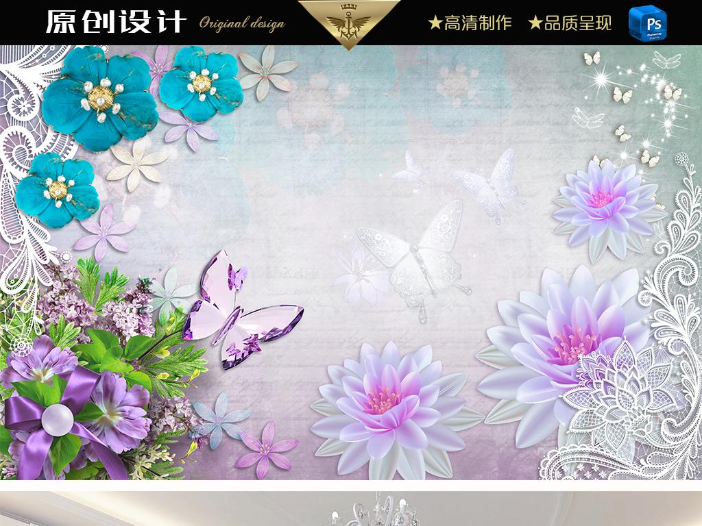 珠宝背景墙 > 梦幻水晶蝴蝶珠宝背景墙  版权图片 设计师 : qq5430215