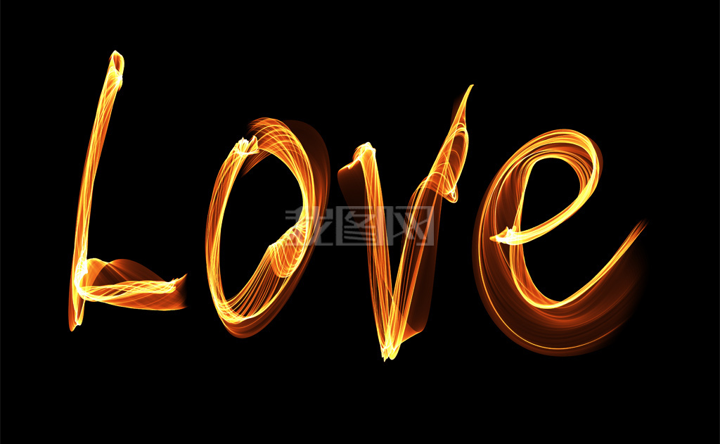 火焰字love火焰字母幻影