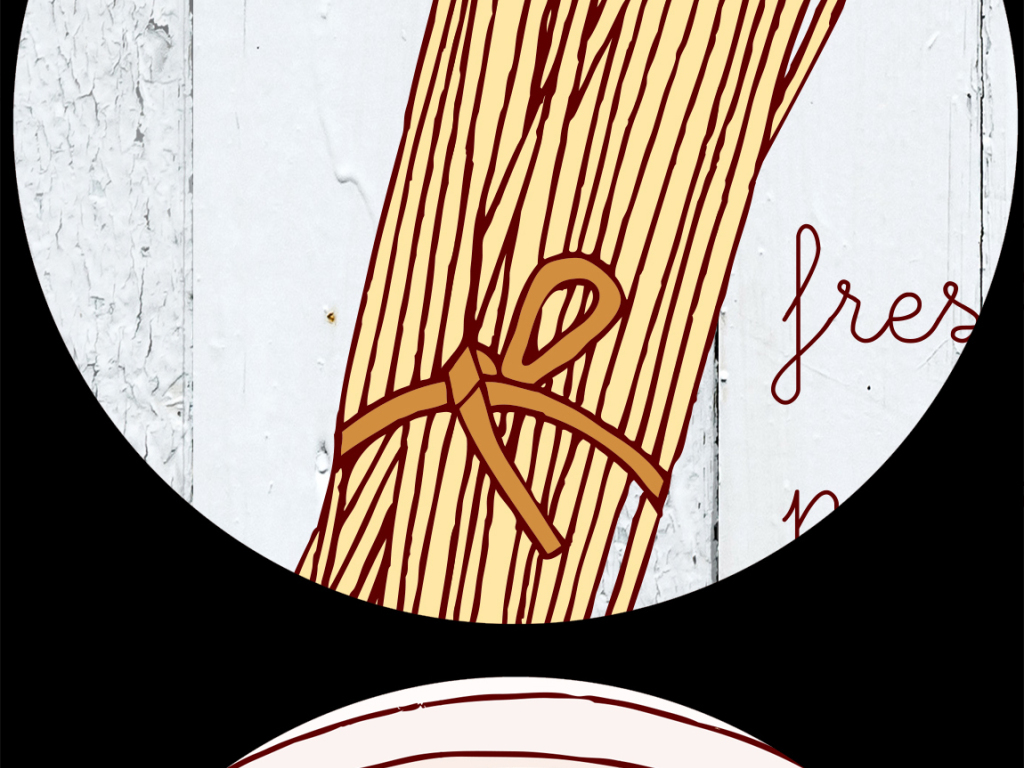 意大利面手绘木板咖啡店餐厅小吃店甜品店电视背景墙图片客厅电视背景