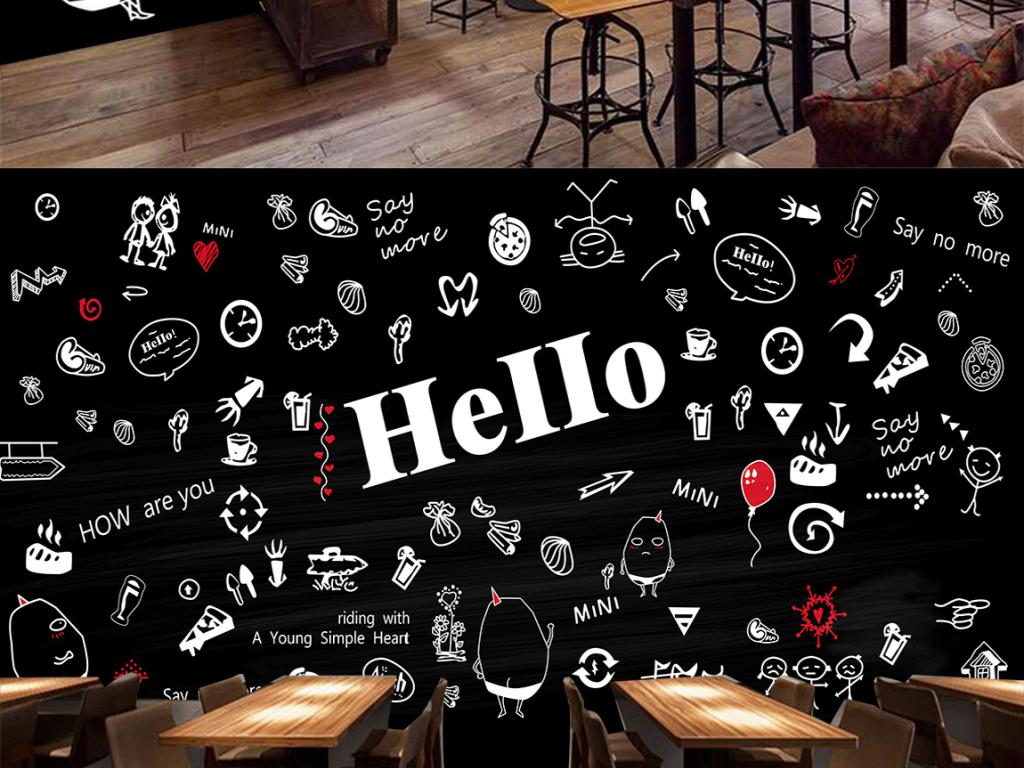 背景墙|装饰画 工装背景墙 酒店|餐饮业装饰背景墙 > 手绘黑板粉笔图片