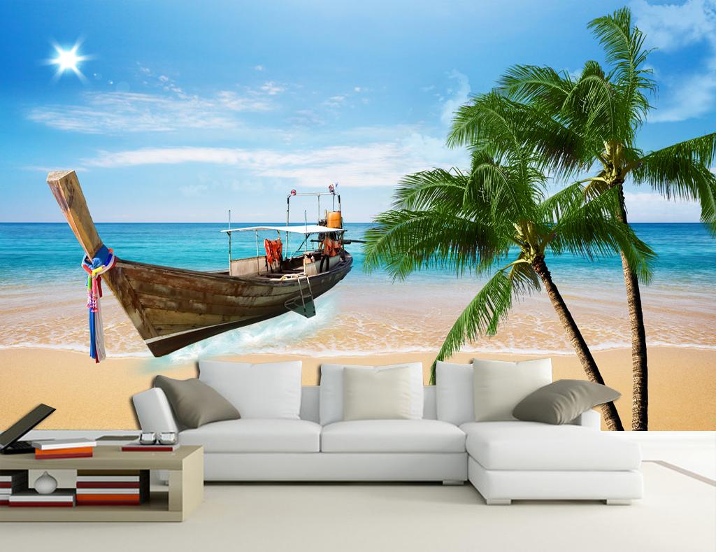 psd)清新海景海岛椰林                                  椰树