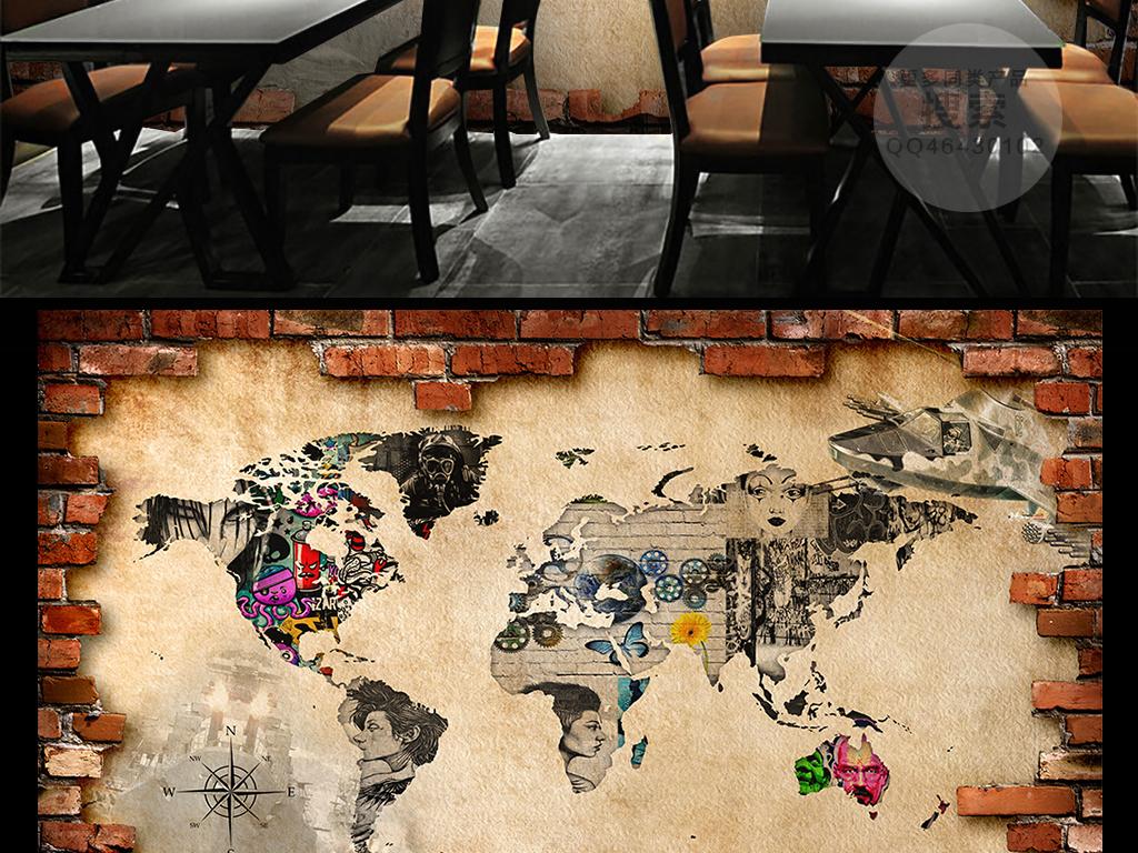 背景墙壁纸壁画电视墙电视背景墙办公室大厅大堂会客厅酒吧ktv涂鸦