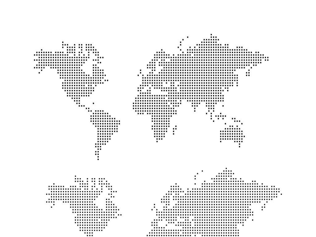 平面|广告设计 其他 设计素材 > 世界地图圆点状世界地图worldmap
