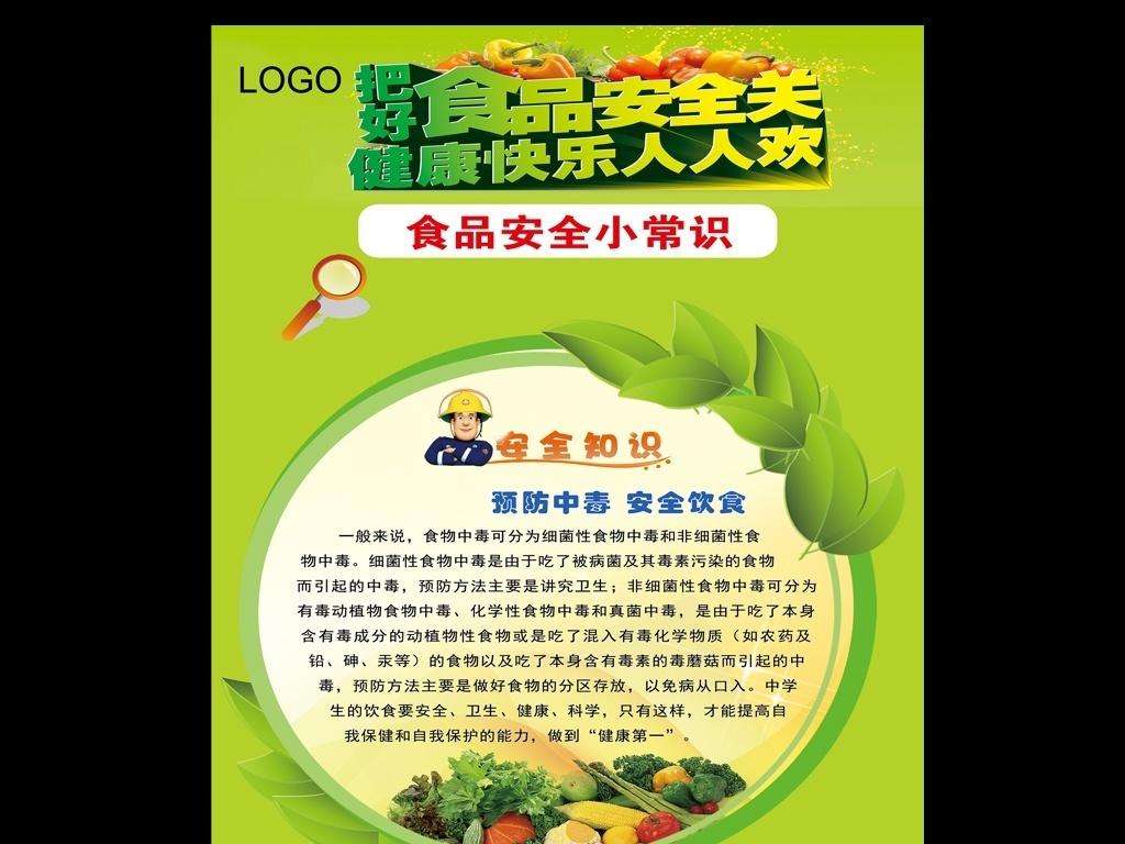 食品安全宣传海报设计PSD模板下载