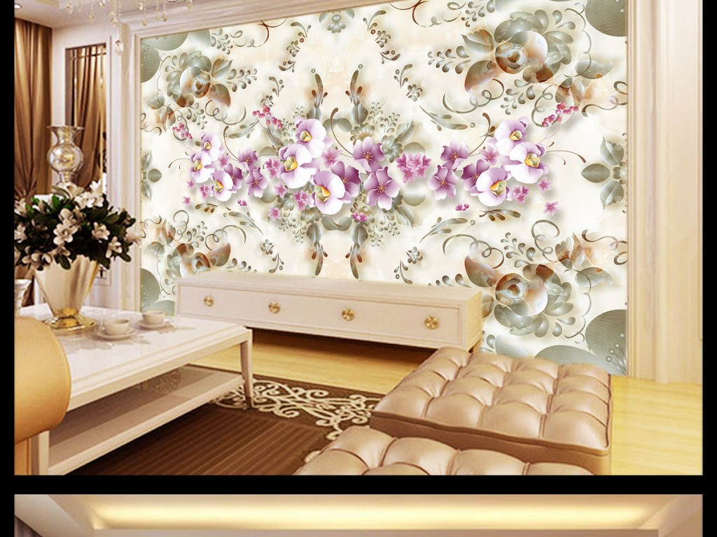 电视背景墙欧式花纹背景墙欧式风格背景墙欧式玄关背