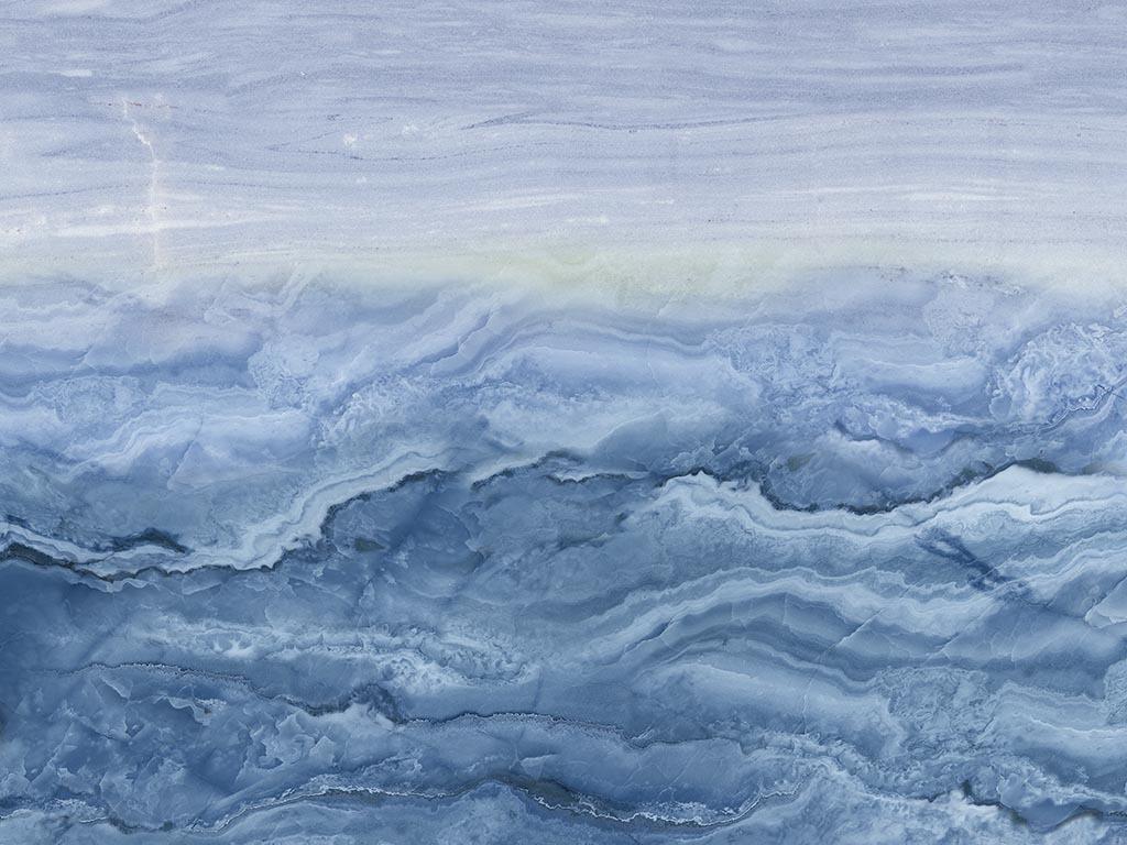 海纳百川蓝色大海大理石纹瓷砖背景墙图片