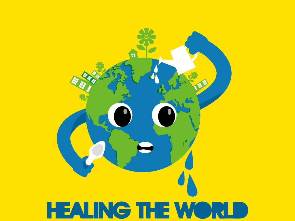卡通地球环境保护海报